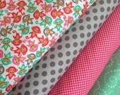 Urban Zoologie MINIS Monkey fabric bundle by Ann Kelle for Robert Kaufman Fabrics- Fat Quarter Bundle- 4 total