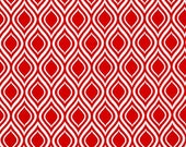 Sale fabric, Christmas fabric, Red fabric, Tribal fabric, Metro Living fabric- Mod Stencil in Red- Choose The Cut, Free Shipping Available