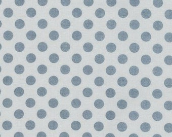 Polka Dot fabric, Gray fabric, Quilt fabric, Applique fabric, Childrens fabric, Robert Kaufman- Spot On Polka Dot in Shadow- Choose the Cut