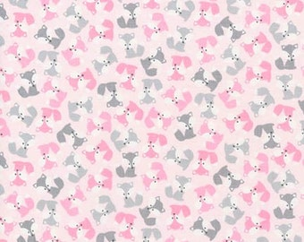 Mini Fox Fabric in Pink Urban Zoologie, Woodland Animals, Baby Fabric, Girl Fabric by Ann Kelle, Robert Kaufman - Fat Quarter to Yardage