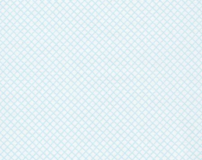 Remix Fabric by Robert Kaufman for Fabric Shoppe Etsy Fabric, Mini Crosshatch in Sky, Blue fabric, Choose The Cut, Free Shipping Available