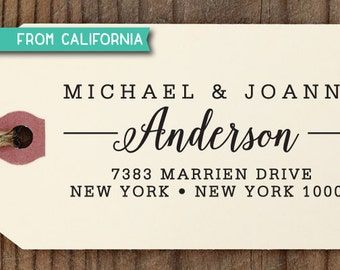 custom ADDRESS STAMP with proof from USA, Eco Friendly Self-Inking stamp, return address stamp, custom stamp, calligraphy designer stamp 207