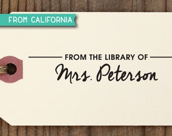 custom RUBBER STAMP with proof from USA, custom stamp, self inking stamp, library stamp, book lover book worm teacher signature - 208 (r203)