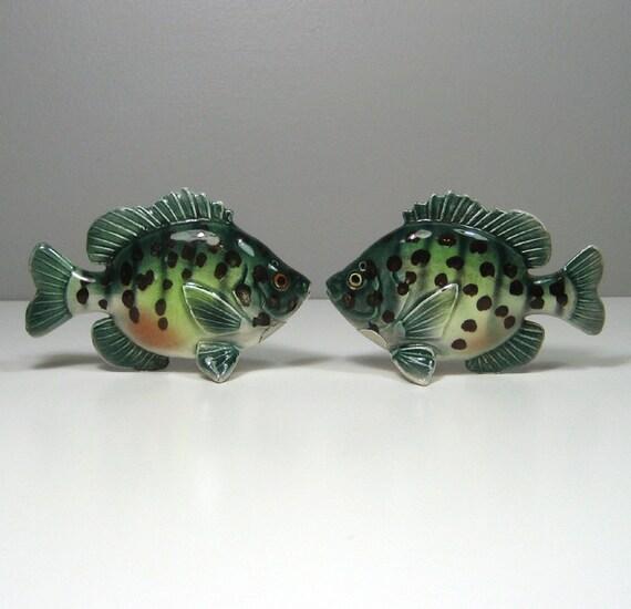 Vtg napco ceramics fish salt and pepper shakers made in japan for Fish salt and pepper shakers