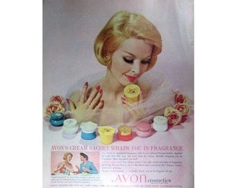Mad Men Era Avon Vintage Advertising Wall Art Home Decor E104