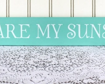 You Are My Sunshine Wood Sign Wall Decor Family Saying Handcrafted Wall Art Signs with Sayings