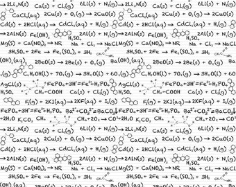 Riley Blake Science Equations Fabric