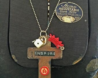 Inspire Metal Cross Necklace