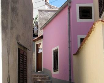 Croatia Photography, Europe, European, Alleys, Streets, Coastal Living, Pastel Pink
