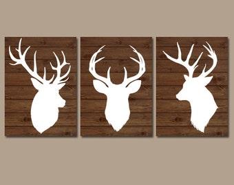 Deer Wall Art deer wall art | etsy