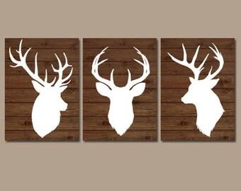 Wood Plank Wall Art deer wall art | etsy