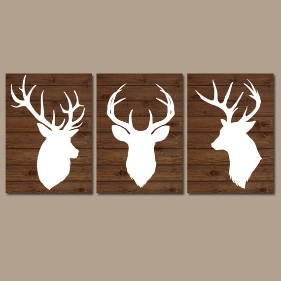 DEER Wall Art CANVAS Or Prints Baby Boy Country Nursery Artwork
