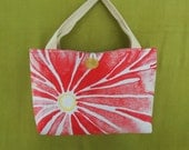 RESERVED for CONNIE Placemat purse, Red - handmade, OOAK
