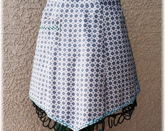 BLUE GEOMETRIC Apron