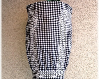 BLACK GINGHAM with WHITE Accents