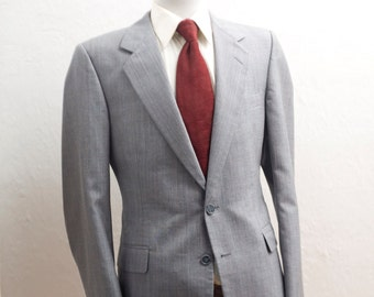 Reserved For BEN Men's Suit / Vintage Grey Blazer and Trousers / Size 42