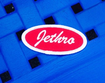 Jethro Iron on or Sew on Patch Vintage Name Patches Name Tag Redneck Novelty Embroidered Iron On Badge Applique Patch