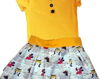 Humpty Dumpty Skirt and Tee Shirt / Children's Top / Kids Tshirt / Baby Clothes