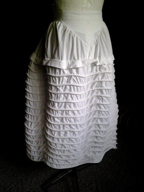 Early Victorian Corded Petticoat for Pre-Hoop Gowns and Dresses, 1840's, 1850's, 1860's