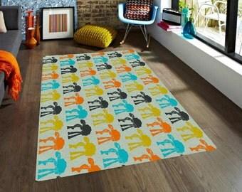 Star Wars rug, ATAT rug, Walkers Rugs, carpet, modern rug, nursery decor, men gift, boyfriend gifts, cool rug, Freek gift, Colorful kid rugs