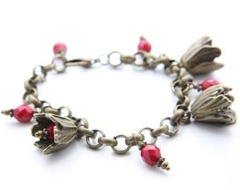Bell Flower Chain Bracelet (B67)