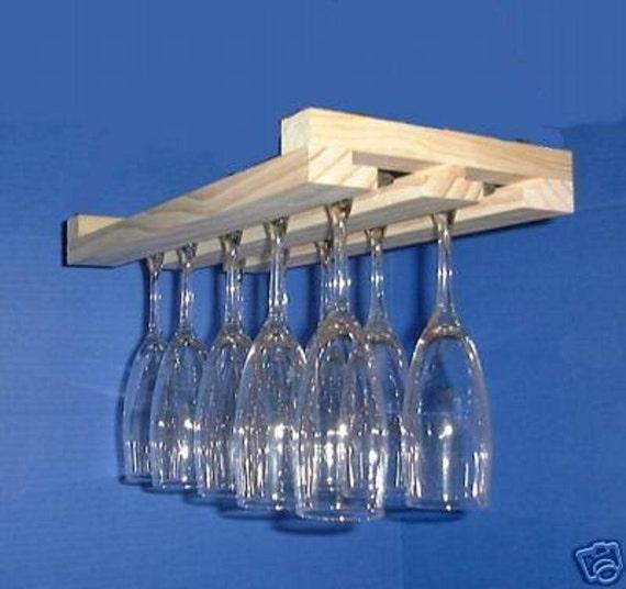 glass rack hanging wine glass rack stemware holder 15 inch. Black Bedroom Furniture Sets. Home Design Ideas