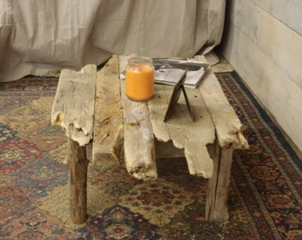 """Driftwood Coffee Table with uneven edges (36"""" x 24"""" x 13 -17"""" H)"""