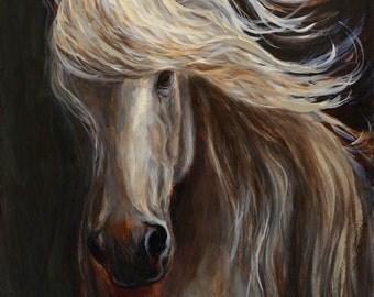 Original Horse Painting-Horse Art-'Into The Light'