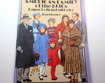 American Family of the 1930s Paper Dolls in Full Color Vintage Dover Paper Doll Book for Children by Tom Tierney