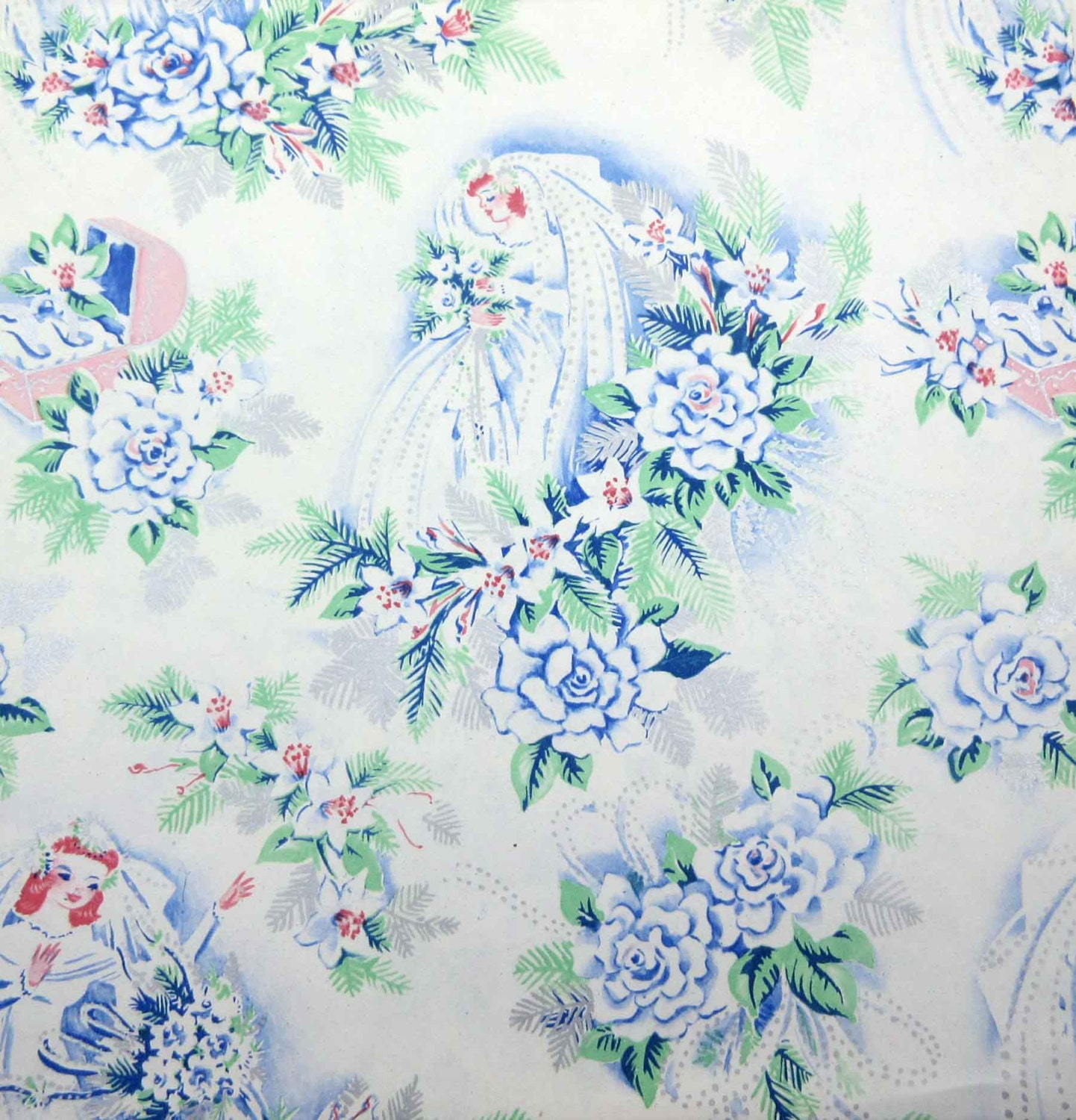 Wedding Gift Paper: Vintage Wedding Or Bridal Shower Wrapping Paper Or Gift