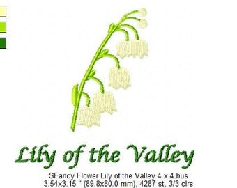 SFancy Flower Lily of the Valley 4 x 4
