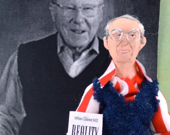 Psychiatrist Teacher William Glasser Doll Art Miniature Historical Character