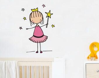 Little Fairy - Wall Decal - Wall Sticker