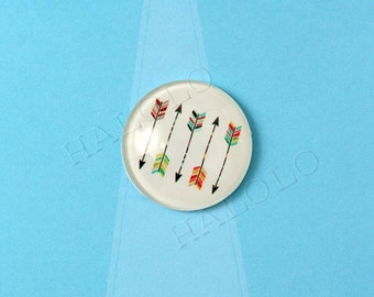 4pcs handmade five-arrow round clear glass dome cabochons 25mm (250610)