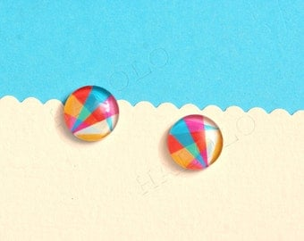 Sale - 10pcs handmade triangle clear glass dome cabochons 12mm (12-9740)