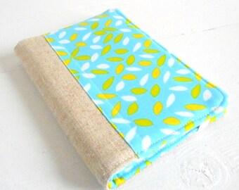 mini list coupon organizer memo pad holder linen mod leaves