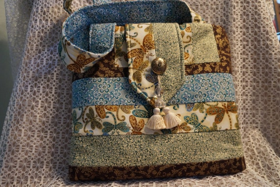 Pretty Oriental looking Quilted Bag
