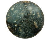 Vintage Brown Tan Speckled Faux Stone Acrylic Cabochons 30mm (2) cab841B