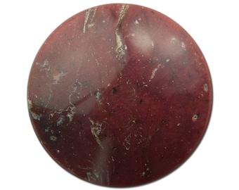 Vintage Raspberry Red Speckled Faux Stone Acrylic Cabochons 30mm (2) cab841A