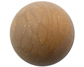 Vintage Matte Golden Brown Marbled Acrylic Domed Cabochons 30mm (2) cab814E