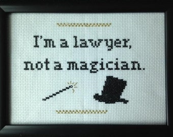 Lawyer Cross Stitch
