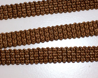 Light Brown Belting, Camel Beige Braided Belting Sewing Trim 5/8 inch wide x 3 yards, Braided Trim