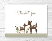 Cute Deer Thank You Card ...
