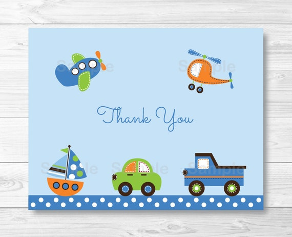 vehicle thank you card vehicle baby shower car