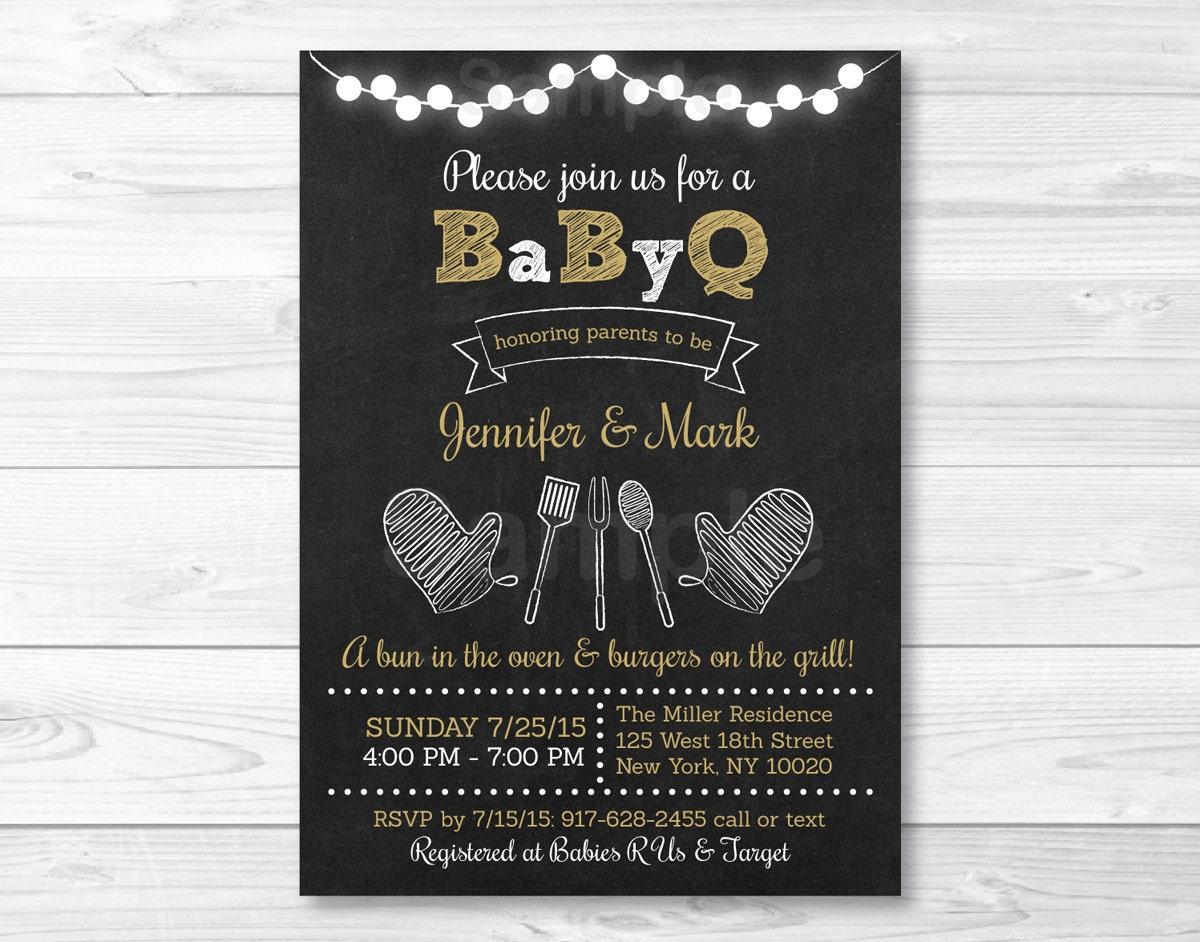 bbq baby shower invitation babyq baby shower invitation