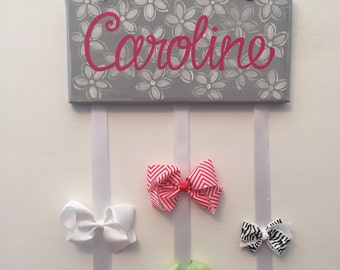 Custom and Personalized Headband and Bow Holder