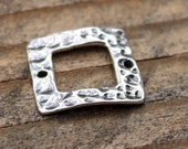 Link Square Sterling Silver Component