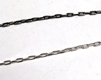 Sterling Silver Oxidized Drawn Cable Chain 3.6x1.7mm