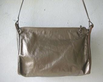 Gold leather festival bag
