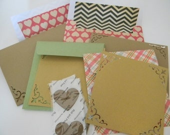 Handcrafted envelope set